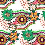 Άνευ ραφής σχέδιο στο ύφος του boho στοκ εικόνα με δικαίωμα ελεύθερης χρήσης