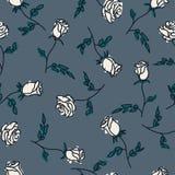 Άνευ ραφής σχέδιο συρμένων των χέρι τριαντάφυλλων επίσης corel σύρετε το διάνυσμα απεικόνισης Στοκ Εικόνα