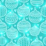 Άνευ ραφής σχέδιο σφαιρών Χριστουγέννων Στοκ Εικόνα