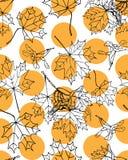 Άνευ ραφής σχέδιο σφενδάμνου Στοκ εικόνες με δικαίωμα ελεύθερης χρήσης