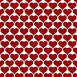 Άνευ ραφής σχέδιο σχεδίου καρδιών για το υπόβαθρο ημέρας βαλεντίνων Στοκ Φωτογραφία