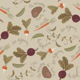 Άνευ ραφής σχέδιο ταπετσαριών λαχανικών απεικόνιση αποθεμάτων