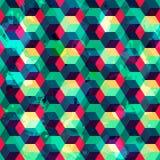 Άνευ ραφής σχέδιο τετραγώνων με την επίδραση grunge απεικόνιση αποθεμάτων