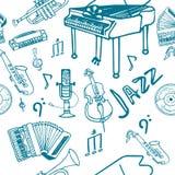 άνευ ραφής σχέδιο τζαζ Στοκ Φωτογραφία
