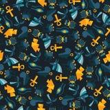 Άνευ ραφής σχέδιο της Αιγύπτου Στοκ φωτογραφία με δικαίωμα ελεύθερης χρήσης