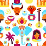 Άνευ ραφής σχέδιο της Ινδίας Στοκ Φωτογραφίες