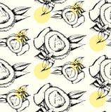 Άνευ ραφής σχέδιο της καρύδας Στοκ Εικόνες