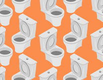 Άνευ ραφής σχέδιο τουαλετών Εξάρτημα στη διακόσμηση τουαλετών σε ένα Οράν Στοκ Φωτογραφία