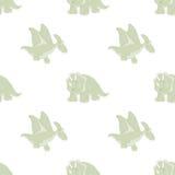 Άνευ ραφής σχέδιο του δεινοσαύρου κινούμενων σχεδίων Στοκ Εικόνες