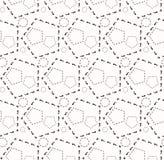 Άνευ ραφής σχέδιο του εξαγωνικού διχτυού Στοκ Εικόνα