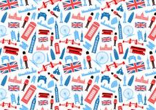 Άνευ ραφής σχέδιο του Λονδίνου, Αγγλία Στοκ εικόνα με δικαίωμα ελεύθερης χρήσης