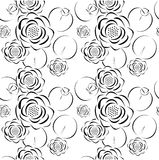 Άνευ ραφής σχέδιο του λουλουδιού λωτού Στοκ Φωτογραφίες