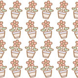 Άνευ ραφής σχέδιο του υποβάθρου λουλουδιών Στοκ Εικόνα