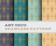 Άνευ ραφής σχέδιο 07 του Art Deco διανυσματική απεικόνιση