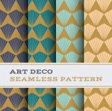 Άνευ ραφής σχέδιο 08 του Art Deco Στοκ Εικόνα