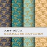 Άνευ ραφής σχέδιο 09 του Art Deco Στοκ Φωτογραφίες