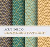Άνευ ραφής σχέδιο 12 του Art Deco Στοκ Εικόνα
