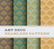 Άνευ ραφής σχέδιο 19 του Art Deco Στοκ Εικόνες