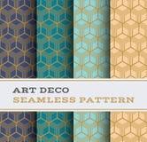 Άνευ ραφής σχέδιο 21 του Art Deco Στοκ Εικόνες