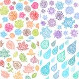 Άνευ ραφής σχέδιο του Four Seasons Στοκ εικόνες με δικαίωμα ελεύθερης χρήσης