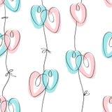 Άνευ ραφής σχέδιο του ST Valentine's με τις καρδιές Στοκ φωτογραφία με δικαίωμα ελεύθερης χρήσης