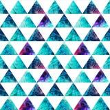 Άνευ ραφής σχέδιο τριγώνων Watercolor. Σύγχρονο hipster άνευ ραφής π Στοκ εικόνα με δικαίωμα ελεύθερης χρήσης