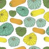 Άνευ ραφής σχέδιο τροφίμων λαχανικών Διανυσματική απεικόνιση
