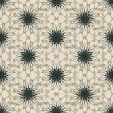 Άνευ ραφής σχέδιο τυπωμένων υλών Λουλούδια Mandala με το ελαφρύ υπόβαθρο Στοκ Εικόνες