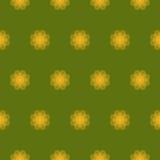 Άνευ ραφής σχέδιο τυπωμένων υλών Λουλούδια Mandala με το πράσινο υπόβαθρο Στοκ Φωτογραφίες
