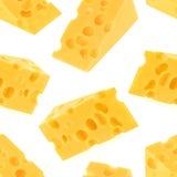 Άνευ ραφής σχέδιο τυριών που απομονώνεται στο άσπρο υπόβαθρο Στοκ φωτογραφία με δικαίωμα ελεύθερης χρήσης