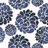 Άνευ ραφής σχέδιο των αφηρημένων λουλουδιών στο ύφος Gzhel Στοκ Φωτογραφίες