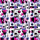 Άνευ ραφής σχέδιο των γεωμετρικών μορφών Στοκ Εικόνα