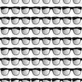 Άνευ ραφής σχέδιο των γυαλιών διανυσματική απεικόνιση