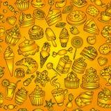 Άνευ ραφής σχέδιο των γλυκών στο διάνυσμα Στοκ φωτογραφίες με δικαίωμα ελεύθερης χρήσης