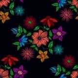 Άνευ ραφής σχέδιο των διαφορετικών λουλουδιών Στοκ Φωτογραφία