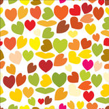 Άνευ ραφής σχέδιο των καρδιών αγάπης, ημέρα βαλεντίνων ` s, υπόβαθρο στα όμορφα χρώματα Στοκ Εικόνες