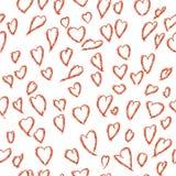 Άνευ ραφής σχέδιο των καρδιών αγάπης, ημέρα βαλεντίνων ` s, υπόβαθρο στα όμορφα χρώματα Στοκ Φωτογραφία