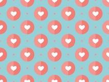 Άνευ ραφής σχέδιο των καρδιών σε ένα τυρκουάζ ελεύθερη απεικόνιση δικαιώματος