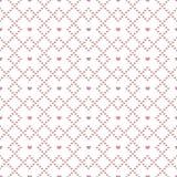 Άνευ ραφής σχέδιο των καρδιών στα διαμάντια Στοκ εικόνα με δικαίωμα ελεύθερης χρήσης