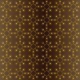 Άνευ ραφής σχέδιο των καφετιών και χρυσών τόνων απεικόνιση αποθεμάτων
