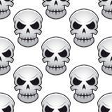 Άνευ ραφής σχέδιο των κρανίων κινδύνου Στοκ Εικόνες