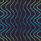 Άνευ ραφής σχέδιο των μπλε γραμμών Στοκ φωτογραφία με δικαίωμα ελεύθερης χρήσης
