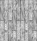 Άνευ ραφής σχέδιο των ξύλινων σανίδων Γραφικό υπόβαθρο του μαύρου α απεικόνιση αποθεμάτων