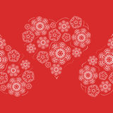Άνευ ραφής σχέδιο των λουλουδιών καρδιών διανυσματική απεικόνιση