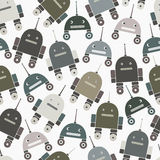 Άνευ ραφής σχέδιο των ρομπότ Στοκ εικόνα με δικαίωμα ελεύθερης χρήσης