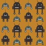 Άνευ ραφής σχέδιο των ρομπότ Στοκ φωτογραφία με δικαίωμα ελεύθερης χρήσης