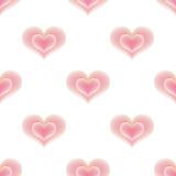 Άνευ ραφής σχέδιο των ρόδινων καρδιών Στοκ Εικόνα