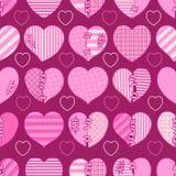 Άνευ ραφής σχέδιο των ρόδινων σπασμένων καρδιών για το τύλιγμα δώρων, τα συγχαρητήρια, τις γαμήλιες προσκλήσεις και την ημέρα βαλ Στοκ Εικόνα