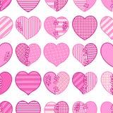 Άνευ ραφής σχέδιο των ρόδινων σπασμένων καρδιών για το τύλιγμα δώρων, τα συγχαρητήρια, τις γαμήλιες προσκλήσεις και την ημέρα βαλ Στοκ Εικόνες