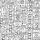 Άνευ ραφής σχέδιο των σπιτιών της Νέας Υόρκης Στοκ Εικόνες